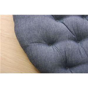 クッション フロア 綿100% 無地 シンプル 『ルージュ』 ネイビー 約53cm丸