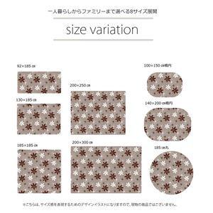 ラグマット カーペット 2畳 洗える 抗菌 防臭 無地 『WSプランタ』 ブラウン 約185×185cm (ホットカーペット