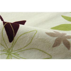 ラグマット カーペット 2畳 洗える 抗菌 防臭 無地 『WSプランタ』 グリーン 約185×185cm (ホットカーペット対応)