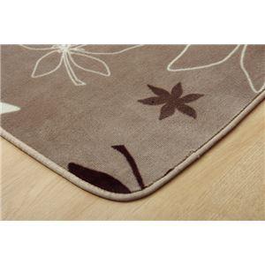 ラグマット カーペット 4畳 洗える 抗菌 防臭 無地 『WSプランタ』 ブラウン 約200×300cm (ホットカーペ