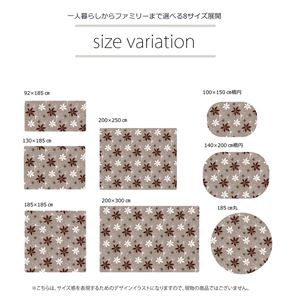 ラグマット カーペット だ円 洗える 抗菌 防臭 無地 『WSプランタ』 ブラウン 約100×140cm楕円 (ホットカーペ