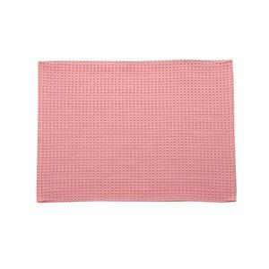 バスマット フロアマット 洗える 吸水 速乾 バリアフリー つまづきにくい 『ワッフル』 ピンク 約35×50cm