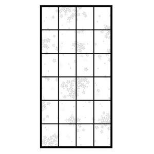 アイロン貼り超強プラスチック障子紙 6843桜宴 94CMX1.8M