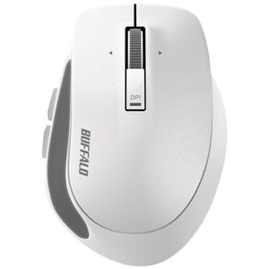 バッファロー 無線 BlueLED プレミアムフィットマウス Mサイズ ホワイト BSMBW500MWH