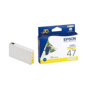 (まとめ) エプソン EPSON インクカートリッジ イエロー ICY47 1個 【×4セット】