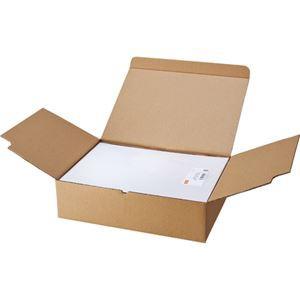 (まとめ) TANOSEE マルチプリンターラベル 業務用パック A4 ノーカット 1箱(500シート:100シート×5冊)