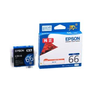 (まとめ) エプソン EPSON インクカートリッジ ブルー ICBL66 1個 【×3セット】