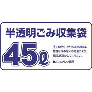 (まとめ) ジャパックス 容量表示入りポリ袋 乳白半透明 70L BOXタイプ TBN70 1箱(100枚) 【×3セット】