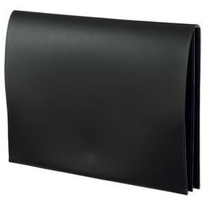 (まとめ) プロッシモ リサイクルレザー スリムレザーケース A4 ブラック PRORSCA4BK 1冊 【×2セット】