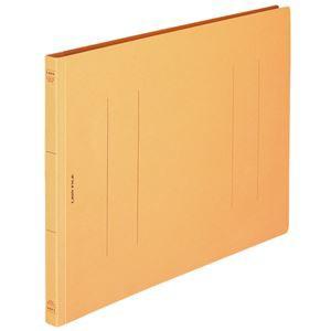 (まとめ) ライオン事務器 フラットファイル(環境) 樹脂押え具 B4ヨコ 150枚収容 背幅18mm 黄 A-507KB4