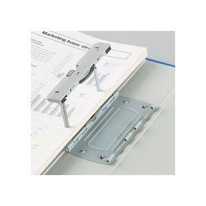 (まとめ)TANOSEE 両開きパイプ式ファイルE A4タテ 30mmとじ グレー 30冊