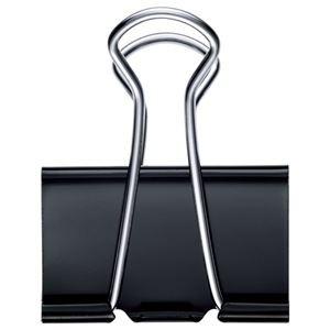 (まとめ) TANOSEE ダブルクリップ 特大 口幅41mm ブラック 1セット(100個:10個×10箱) 〔×2セット