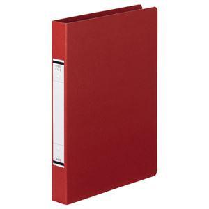 (まとめ) TANOSEE Oリングファイル(紙表紙) A4タテ 2穴 220枚収容 背幅36mm 赤 1セット(10冊)