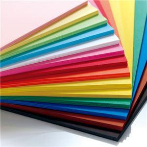 (まとめ) TANOSEE 色画用紙 四つ切 あか 1パック(10枚) 〔×15セット〕