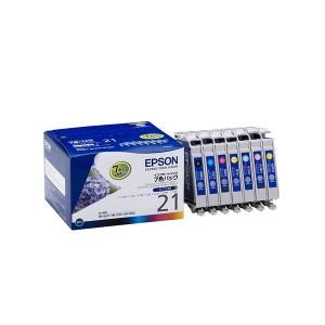 (まとめ) エプソン EPSON インクカートリッジ 7色パック IC7CL21 1箱(7個:各色1個) 【×3セット】