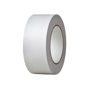 (まとめ) TANOSEE クラフトテープ 重ね貼可能 50mm×50m 白 1巻 〔×20セット〕