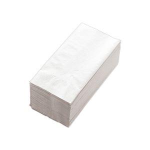 (まとめ) カラーナプキン 2PLY 8つ折 白無地 2PLM-50 1パック(50枚) 【×20セット】