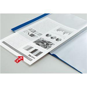 (まとめ) コクヨ クリヤーブック(クリアブック)(K2)固定式 A4タテ 40ポケット 背幅25mm 中紙なし 赤 K2ラ