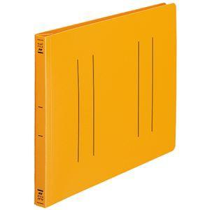 (まとめ) コクヨ フラットファイル(PP) A4ヨコ 150枚収容 背幅20mm オレンジ フ-H15YR 1セット(10