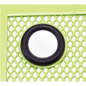 (まとめ) リヒトラブ マグネットポケット ペンスタンド 黄緑 A-7390-6 1個 〔×10セット〕