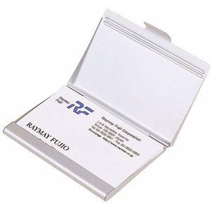 (まとめ) レイメイ藤井 アルミカードケース W65×D93×H7mm 20枚収容 CHA480 1個 〔×10セット〕