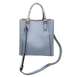 仕切ポケットがついたマチが広い柔らか素材の2Wayハンドバッグ/アイボリー