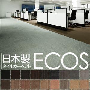 スミノエ タイルカーペット 日本製 業務用 防炎 撥水 防汚 制電 ECOS SG-311 50×50cm 20枚セット ストラ