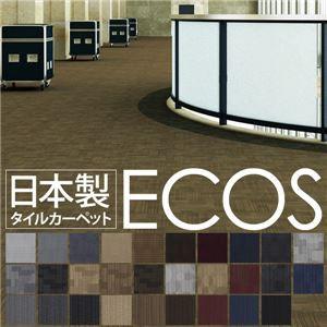 スミノエ タイルカーペット 日本製 業務用 防炎 撥水 防汚 制電 ECOS SG-456 50×50cm 20枚セット CIR