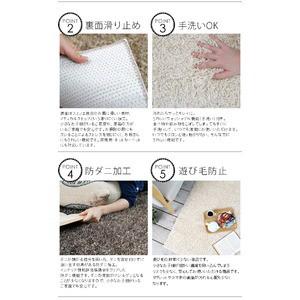 手洗いできるミックスシャギーラグ グレイド 190×240cm サンドベージュ【代引不可】