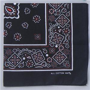 (まとめ)アーテック バンダナ 約550×550mm ポリエステル100% ブラック(黒) 〔×30セット〕