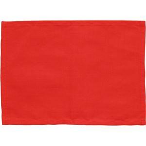 (まとめ)アーテック ゼッケン(ビブス) 綿製 225×162mm レッド(赤) 【×50セット】