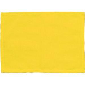 (まとめ)アーテック ゼッケン(ビブス) 綿製 225×162mm イエロー(黄) 【×50セット】