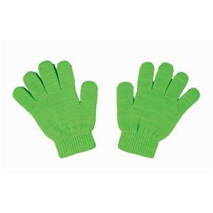 (まとめ)アーテック カラーのびのび手袋 〔子供用サイズ〕 アクリル製 蛍光グリーン(緑) 〔×40セット〕