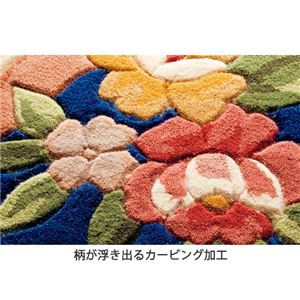 ウール100%天津フックカーペット 〔1: 1.5畳/約130cm×185cm〕 長方形/厚手 ブルー(青)