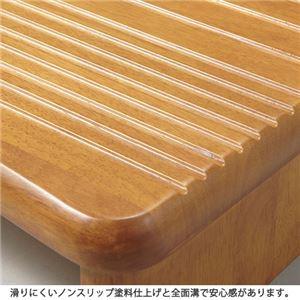 滑りにくい高さが選べる玄関台(踏み台) 〔4: 幅120cm/高さ13cm〕 木製(天然木) アジャスター付き
