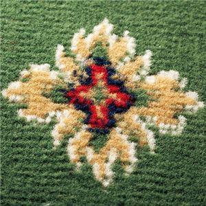 ウィルトン織廊下敷き(カーペット) 「ビルネ」 【19: 約98cm×700cm】 滑りにくい加工 グリーン(緑)