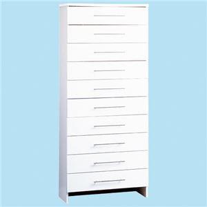 ランドリー収納庫(ランドリーチェスト) 【10: ハイタイプ/幅75cm】 10段 ホワイト(白)