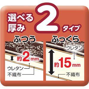 ゴブラン風シェニールラグマット 〔長方形 厚み2mm 190×240cm〕 ふつうタイプ 裏面不織布貼り加工 ベージュ