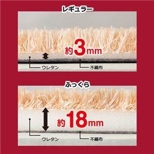 〔訳あり・在庫処分〕 厚みが選べる カラフルミックスシャギーラグ ベージュ 〔10: レギュラー約3mm だ円約190×29