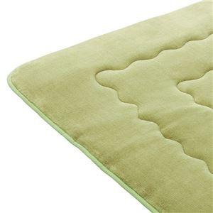 ふわモコキルトラグマット/絨毯 単品 〔グリーン 2畳 185cm×185cm 厚み3cm〕 正方形 洗える こたつ・ホット
