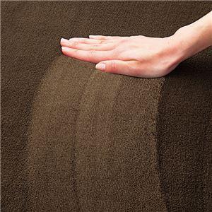 撥水 厚みふかふかボリュームタッチラグマット/絨毯 〔ネイビー 約90cm×120cm〕 厚み約18mm 長方形 折りたたみ