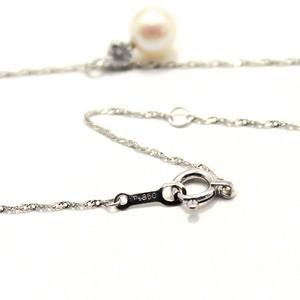 プラチナ アコヤ真珠 ダイヤモンドペンダント/ネックレス