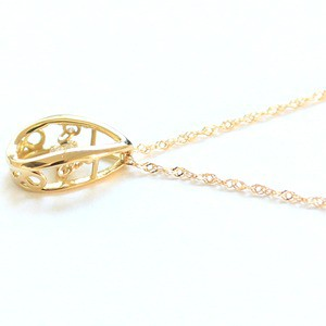 ダンシングストーン ネックレス k18 ダイヤモンド しずく ペンダント 揺れるダイヤ