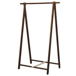 折りたたみハンガーラック(ブラウン/茶) 幅99cm コートハンガー/衣類収納/天然木/木製/幅広/ワイド/北欧風/ナチュラ
