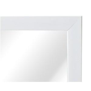 軽量ウォールミラー (高さ60cm/ホワイト/白) 飛散防止加工/姿見鏡/全身/スリム/壁掛け/モダン/北欧風/完成品/NK