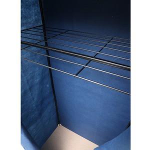 クローゼットハンガー 〔LLサイズ/幅92cm〕 スチール デニム風カバー/棚付き/NK-663 デニムブルー(青)