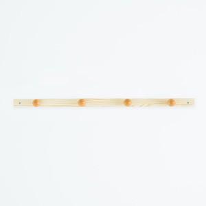 〔30本セット〕コートハンガー〔4玉〕 (ナチュラル) 幅85cm 壁掛けフック/木製(天然木)/北欧風/ウォールハンガー/