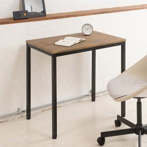 〔2個セット〕ヴィンテージテーブル(ブラウン/茶) 木製/デスク/リビングテーブル/作業台/スチール/アイアン/オフィス/仕