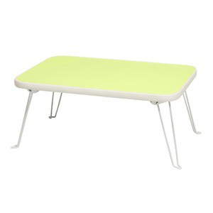 〔6個セット〕ミニーテーブル(パステルグリーン/緑) 幅45cm 机/折り畳み/ミニサイズ/スリム/軽量/キッズ/子供/パス