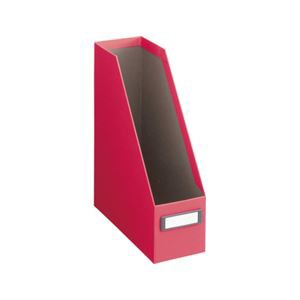 ボックスファイル(布クロス貼り)A4-S レッド(赤)